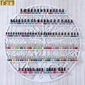 95 * 95 CM colgantes de hierro forjado Circular arte del clavo del pulimento estante de la pared soporte de exhibición estante cosméticos HS-4