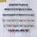95*95CM Hanging Wrought Iron Circular art Nail Polish Wall Rack Display stand Cosmetics shelf HS-4