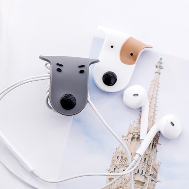 Image 2 - 1pcs Cartoon USB Cable Bites For Cable Protection Cute Iphone Accessory Animal Protector Data line Winder Cord Data Protect-in Cable Winder from Consumer Electronics