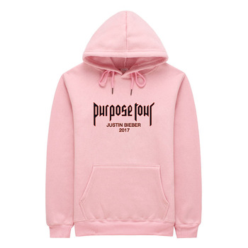 justin bieber purpose tour off white Hoodies Men High Quality Pink Streetwear Purpose Tour Hoodie Mens Sweatshirt sweat homme hoodie