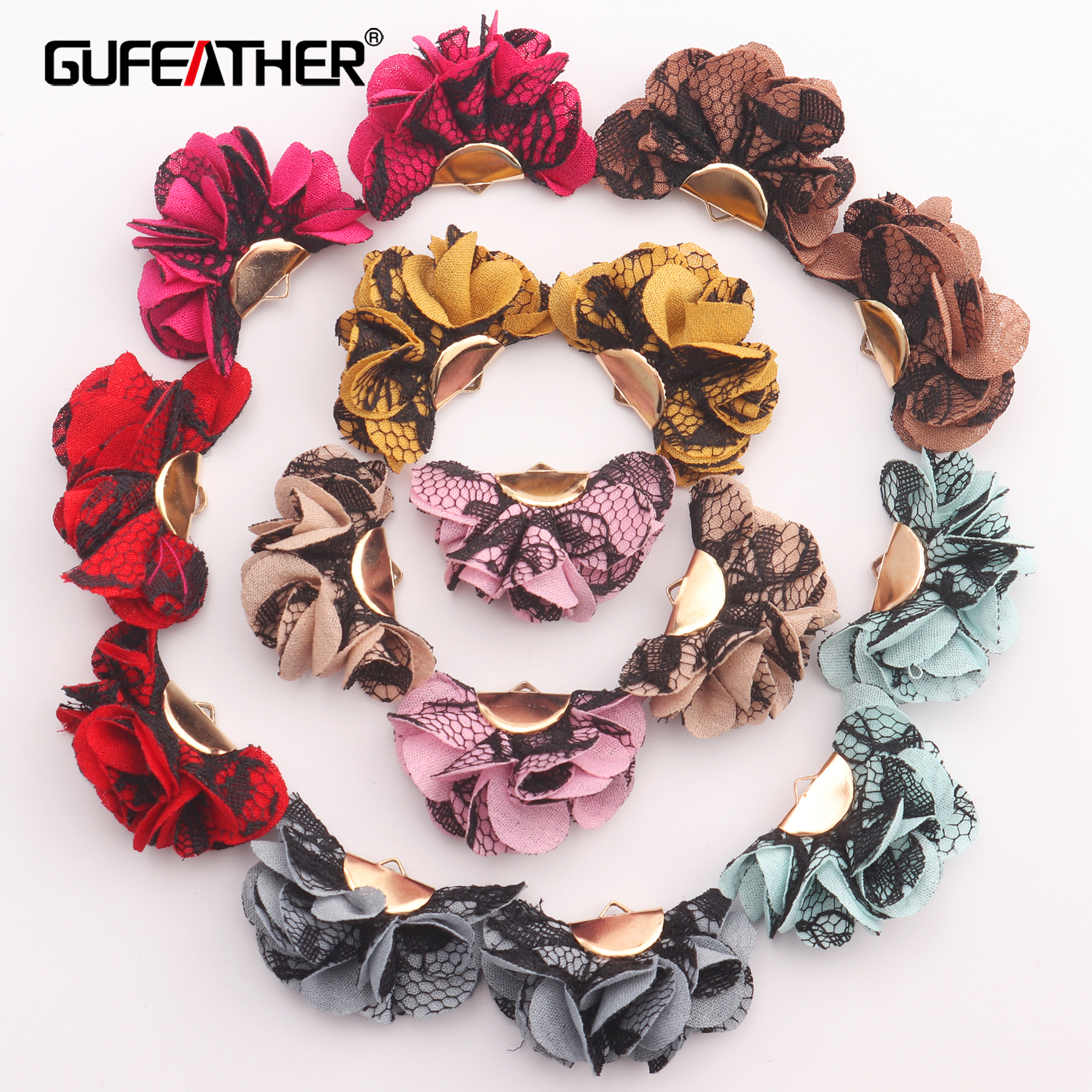 GUFEATHER F133,earring Accessories,charms,jewelry Findings,flower Jewelry Decoration,diy Earrings,jewelry Making,10pcs/lot