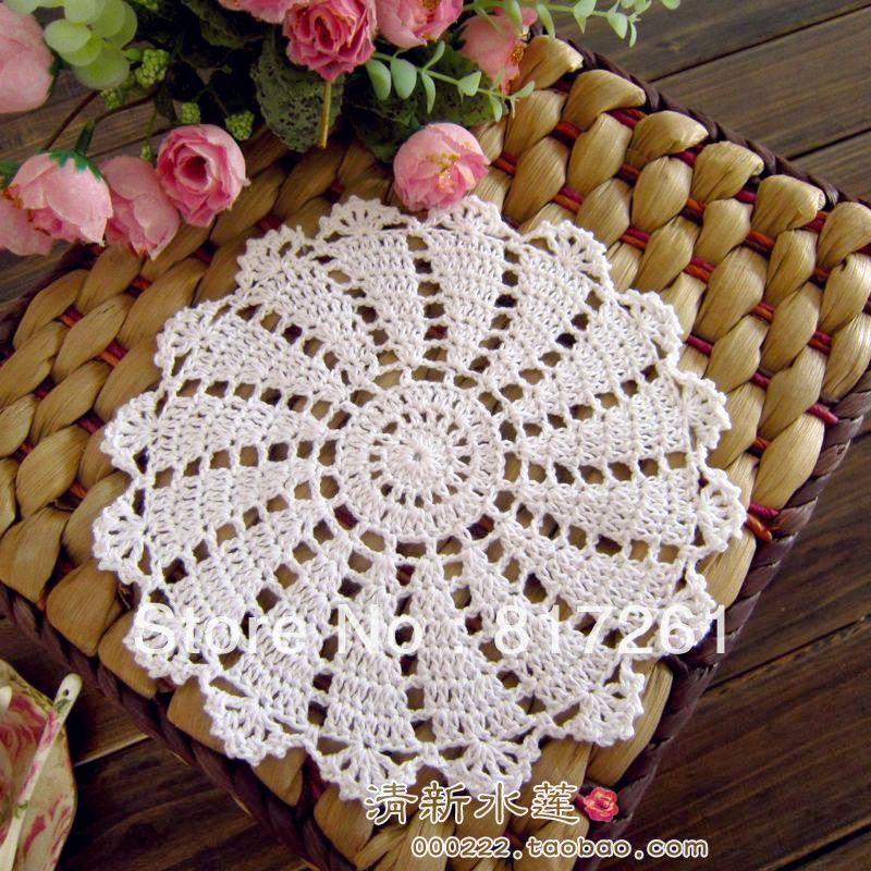 ZAKKA kitted подставка для кофейной чашки тарелка коврик Подставка-салфетка подушка в цветочек 20 Рис 20 см круглый красивый дизайн стол коврик для дома