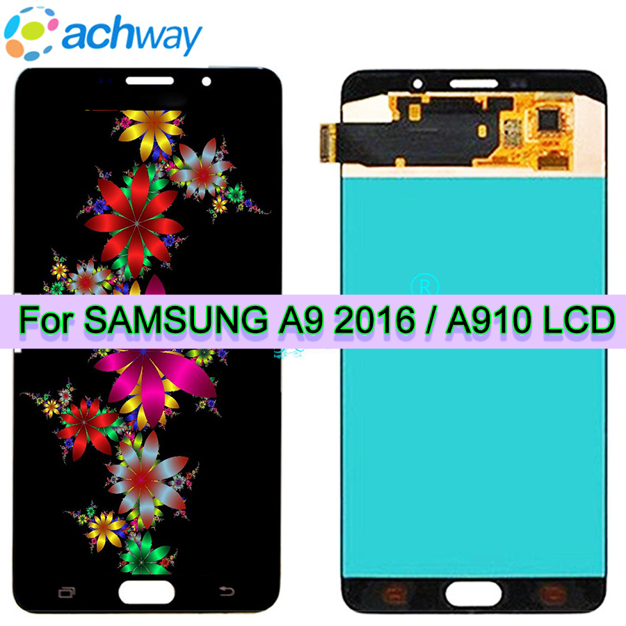 For SAMSUNG GALAXY A9100 LCD A9 Pro A9 2016 A910F Display Touch Screen Digitizer Assembly Replacement For 6.0 SAMSUNG A910 LCDFor SAMSUNG GALAXY A9100 LCD A9 Pro A9 2016 A910F Display Touch Screen Digitizer Assembly Replacement For 6.0 SAMSUNG A910 LCD