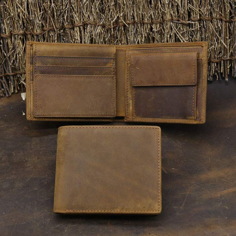 NEWEEKEND Genuine Crazy Horse Cowhide Leather Short Male Man Men's Wallet With Coin Pocket Card Holder Vintage Casual 1549-1 men wallet male cowhide genuine leather purse money clutch card holder coin short crazy horse photo fashion 2017 male wallets