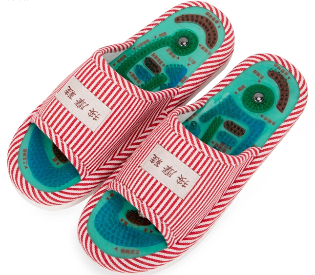 1Pair Summer Style New Foot Health Care Magnet Therapy Slippers Foot Acupoint Massager Flat Slippers For Women Men 1 pair health care foot acupoint massager flat slippers for male female