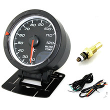 60MM 2.5Inch 12V 20~120 Degree Celsius Universal Car Motor Gauge Water Temperature Meter Black Shell with Red & White Lighting cnspeed 60mm car water temperature gauge 20 120 celsius water temp meter red
