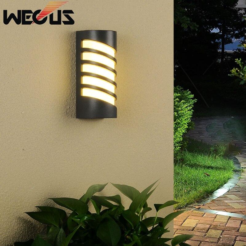 Luz led ao ar livre moderno buitenverlichting à prova ddustágua dustproof villa lâmpada de parede varanda luminárias arandela quintal sutiã decorativo|Luminárias de parede externas| |  - title=