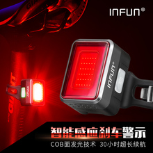 INFUN велосипедная задняя велосипедная фара автоматическая тормозная Индукционная задняя фара MTB USB зарядка дышащий светодиодный фонарик велосипедная безопасная лампа