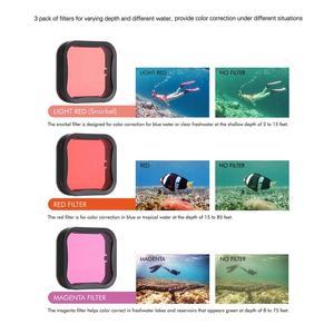 Image 5 - SOONSUN 45M Custodia Impermeabile Caso di Immersione Subacquea + Dive Lenti Kit Filtro per GoPro hero 5 6 7 nero Go Pro 7 Accessorio