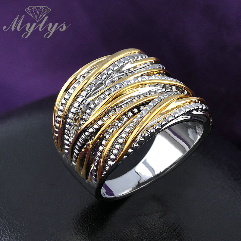 Mytys Mode Chunky Rings untuk Partai Wanita Batu Cincin GP Gratis - Perhiasan fashion - Foto 3