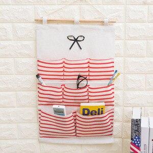Image 2 - 2019 NEW Organizador Stripe Foldable Hanging Makeup Organizer Bathroom Home Hang Storage Bag Wall Debris Laundry Basket