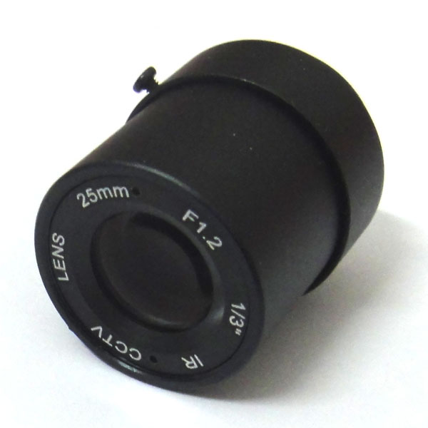 1/3 25mm CCTV Lens view 70m 11 degrees F1.2 IR Fixed Iris CS Mount for Security CCD Camera 2016 new 3 megapixel hd lens fixed iris ir infrared 4mm cs mount lens for security cctv camera