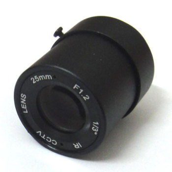 1/3 25mm CCTV Lens view 70m 11 degrees F1.2 IR Fixed Iris CS Mount for Security CCD Camera 3 6mm lens m12 ir board lens for cctv camera horizontal viewing angle f2 0 fixed iris