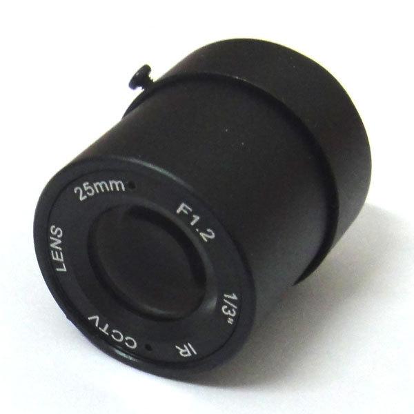 """1/3 """"25mm CCTV Objectif vue 70 m 11 degrés F1.2 IR Fixe Iris CS Mont pour CCD de Sécurité caméra"""