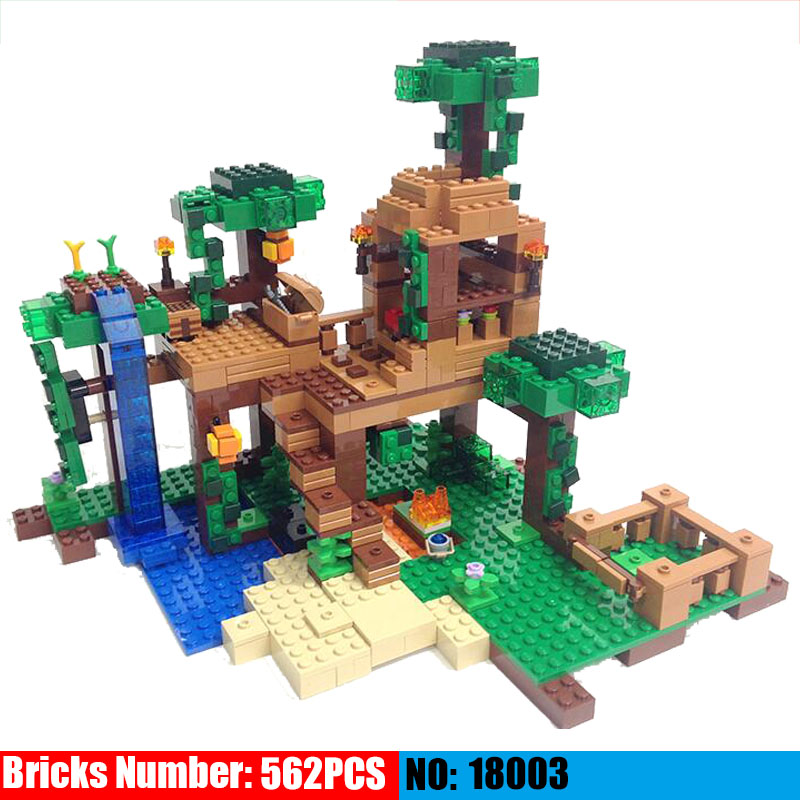 NEW 18003 my world series The Fortress model Building Blocks set compatible original 21125 My world Toys for children my world tree house brick scene series steve mini blocks model building blocks kit toys for children compatible 21125