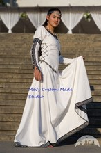 "Custom Made White Medieval Period Dress ""Chess Queen""/Theater Costume"