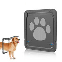4 Way Lockable Plastic Pet Big Dog Cat Door for Screen Window Safety Flap Gates Pet Tunnel Dog Fence Free Access Door for Home