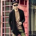 Хлопок кардиган пальто вязаные masculino Осень новый мужской зимний пуговиц длинный кардиган плюс размер с карманами мужчин свитер толстый