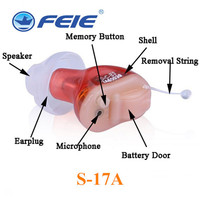 Alibaba China Supplier Feie Hearin Aid Adjustable Digital Hearing Aid Small In The Ear S 17A