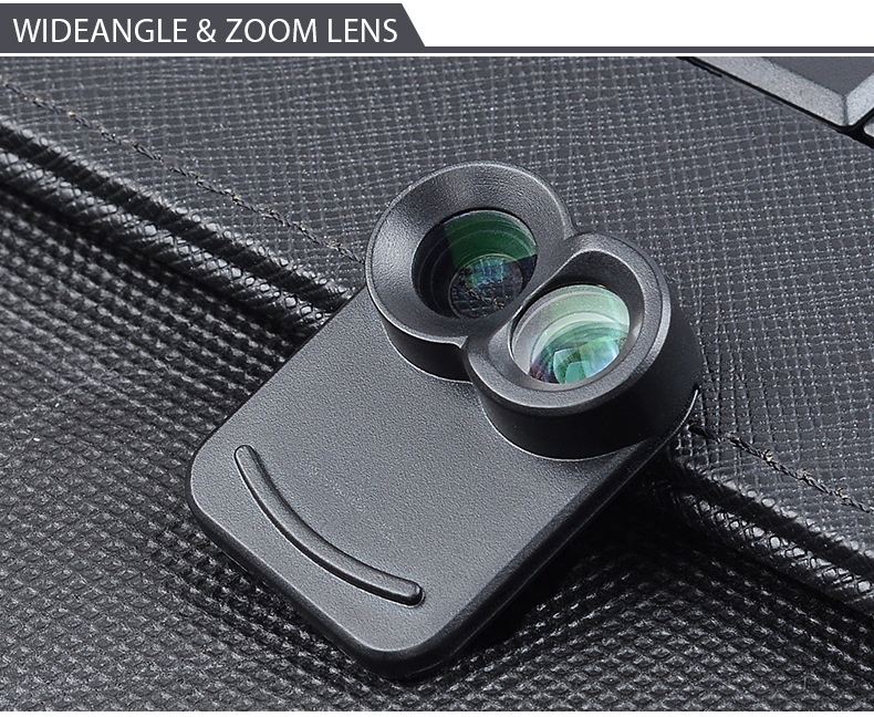 APEXEL 6 in 1 Dual Phone Lens Kit Wide Angle/Zoom/Telescope/Macro/Fisheye Camera Lens with Smartphone Case for iPhone 7 plus 5