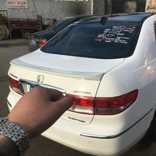 Use For Honda Accord Lip Spoiler 2003 2005 Model High Quality Abs Material Car Rear Wing Primer Color