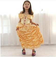 princess belle halloween costumes kid child girl 110160cm birthday gift beauty and the beast costume suit fancy dress cosplay