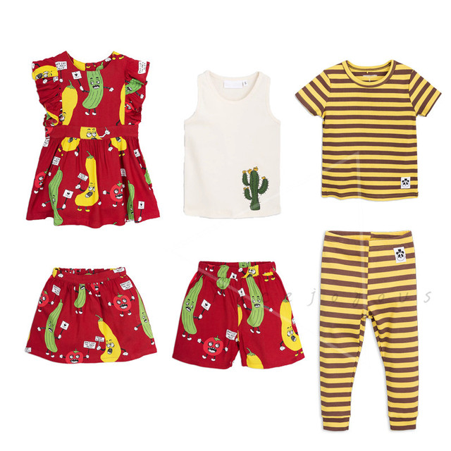 7da35c8edfea Kids Clothes Sets Summer Mini Brand Boys Clothes Girls Dresses Suit Tanktop  Shorts Red Fruit Children T-shirt Pants Bobo Choses