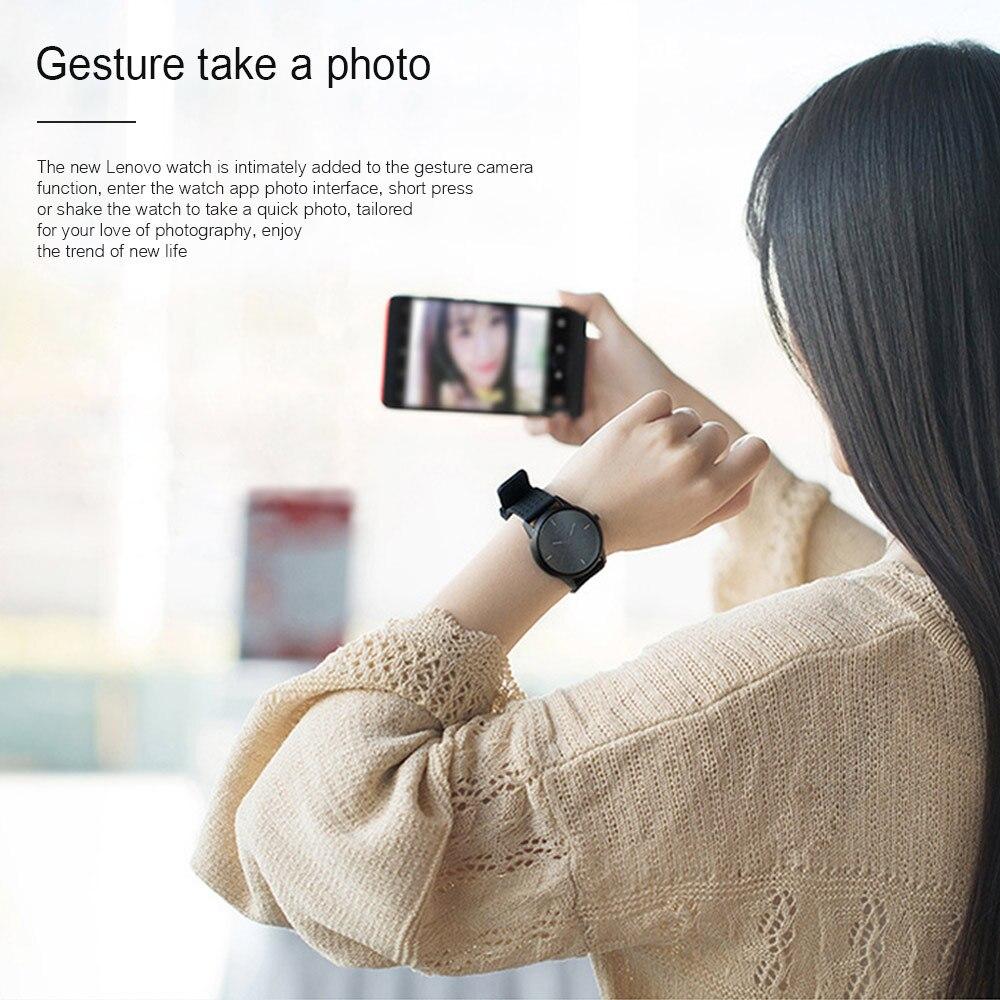 Lenovo Smart Watch Fashion Watch 9 Sapphire Glass Smartwatch 50 Meters Waterproof Heart Rate Monitor Calls Information Reminding 2