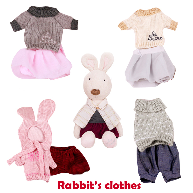 30cm/45cm/60cm 15styel Le Sucre Rabbit Clothes Suit Dress Doll's Clothing Kawaii Sweater for Kids Toys 1 set le sucre wearing dress 30cm kawaii rabbit plush toys bunny stuffed dolls kids toys gifts clothes can be take off