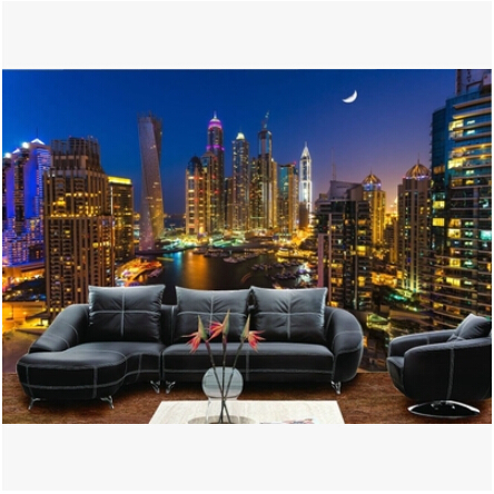 Buy mural 3d hongkong city night scene for Cost of a mural