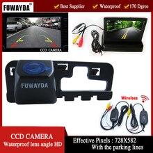 Cámara de vídeo para automóvil FUWAYDA Wrieless, cámara de aparcamiento de marcha atrás de coche con Monitor plegable para Honda CCD 2006 2007 2008 2009