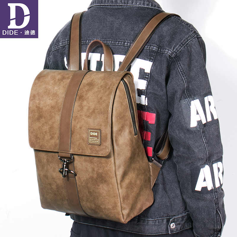 DIDE модный Легкий Повседневный дорожный рюкзак на ремне, рюкзак для ноутбука, школьный водонепроницаемый рюкзак, кожаный рюкзак