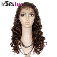 THỜI TRANG LADY Remy Con Người Tóc Tóc 18 inch Sóng Cơ Thể Brazil Tóc Lace Front Wig