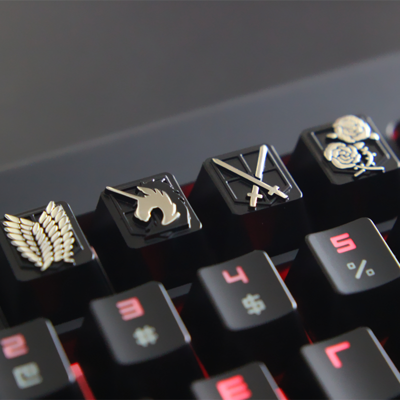 Customize zinc alloy keycap for game mechanical keyboard Attack on Titan Suit keyboard key caps DIY