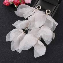 Badu Long Tassel Dangle Earrings for Women Fashion Bohemian Boho Cute Yarn Flower Summer Wedding Jewelry Gift Girl