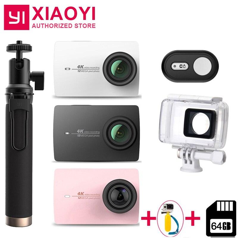 Yi 4 K Action Kamera Xiaomi Yi Lite 16mp Echt 4 K Sport Kamera Wifi Bluetooth 2 touch Lcd Screen Eis 150 Grad Objektiv plus