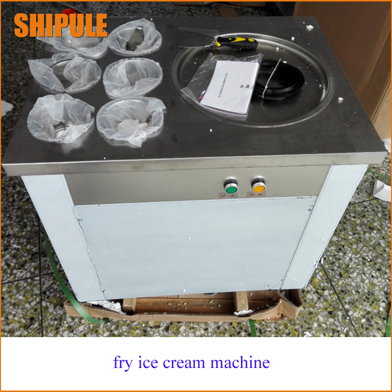 Free shippping by DHL 1pcs New arrival pans fried ice cream machine frying ice machine ice pan machine with 6 barrels edtid new high quality small commercial ice machine household ice machine tea milk shop