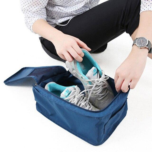 נעליים עמיד למים נסיעות אחסון תיק נייד נעלי ארגונית מתקפל אחסון פאוץ ניילון תכליתי רוכסן שקיות