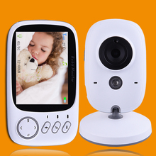 "High Resolution 3.2"" Wireless Video Color Baby Monitor Portable Nanny Security Camera Night Vision Baby Temperature Monitoring(China)"