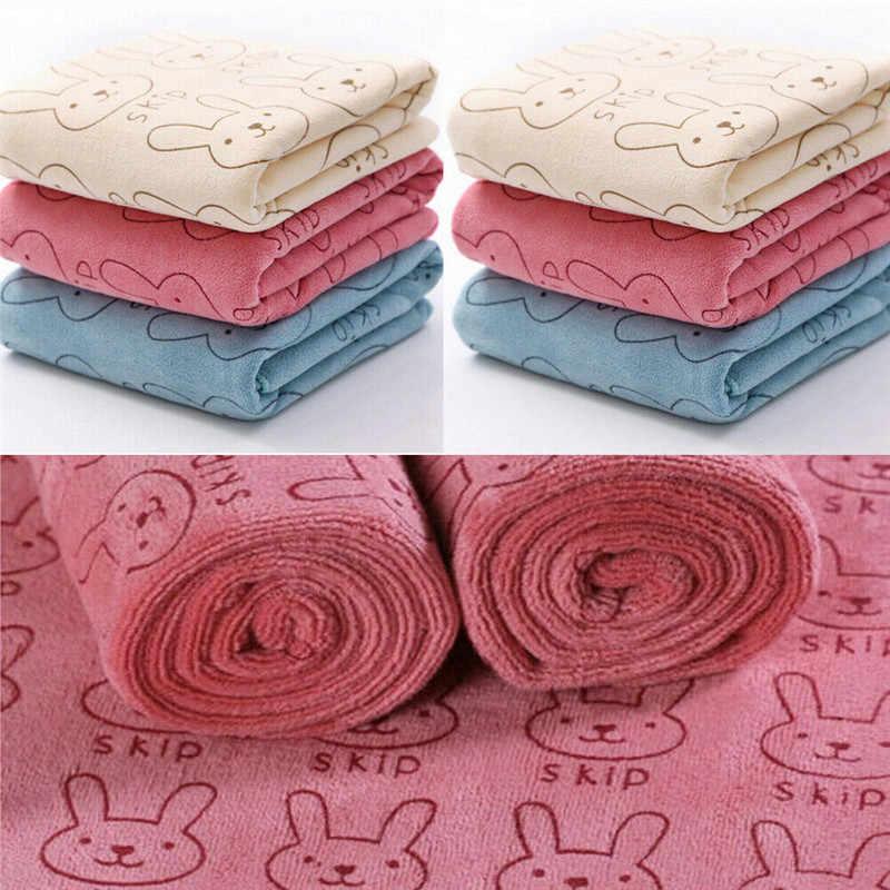 Мягкое фланелевое одеяло с капюшоном для новорожденных, банное полотенце с изображением кролика