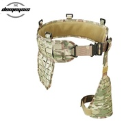 2019 New Molle Tactical Shooting Waist Belt Cummerbunds Adjustable Military Airsoft Combat Hunting Waist Belt Support