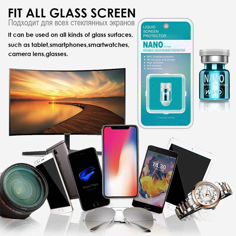 Akcoo Apple iPhone görünmez 9H sert Premium evrensel Anti Scratch Nano sıvı ekran koruyucu samsung LG Xiaomi film