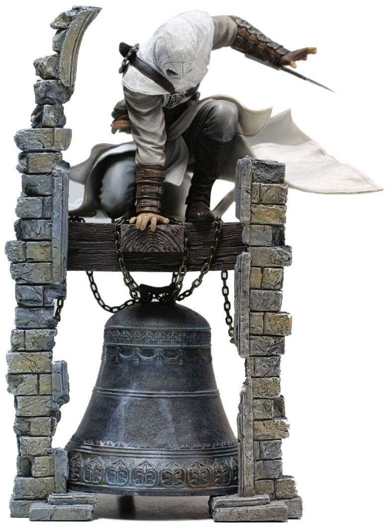 Assassins Creed Altair Ibn-La Ahad Edward PVC Action Figure Model Kids Toys Christmas Gift 28CM 24cm pvc deadpool action figure breaking the fourth wall scene dead pool kids birthday christmas model gift toys