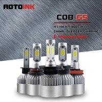 AOTOINK Car Headlights Chip LED 12V 24V H4 Car Head Lamp H7 Lights 72W 8000LM Head