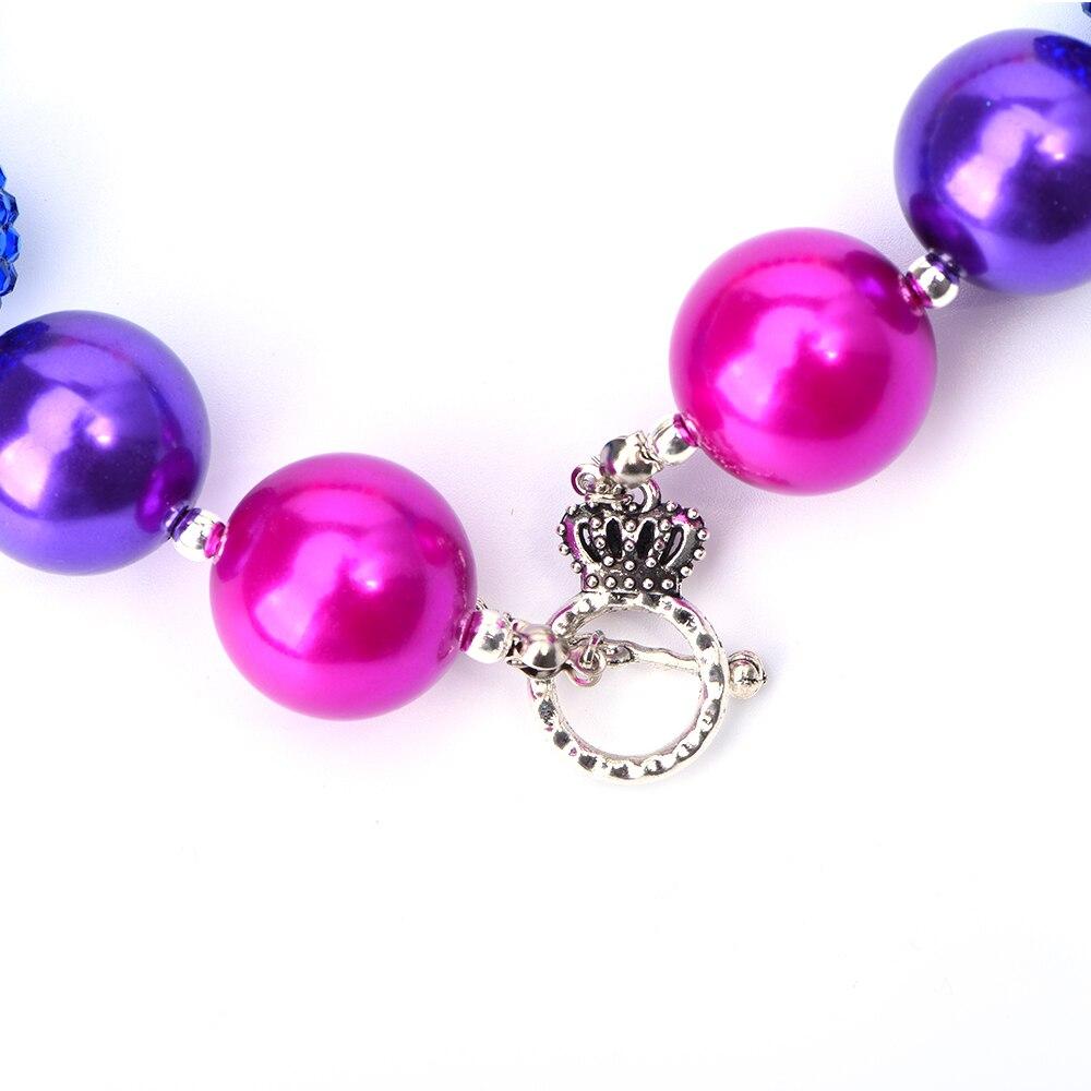 Rainbow inspired Chunky Bubblegum Rainbow Bead Children/'s Necklace /& Bracelet Set