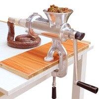 Manual Meat Grinder Sausage Maker Stainless Steel Sausage Stuffer Pasta Maker Meat Vegetable Grinder Mincer For Home