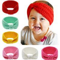 Wholesale Baby Girl Knit Crochet Turban Headband Warm Headbands Hair Accessories For Newborn Head Bands Hairband