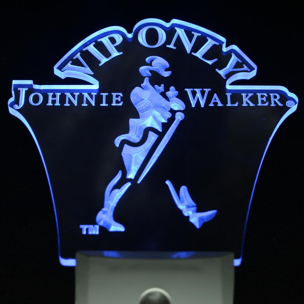 ws0017 Johnnie Walker VIP ONLY Bar Beer Decor Day/ Night Sensor LED Night Light Sign
