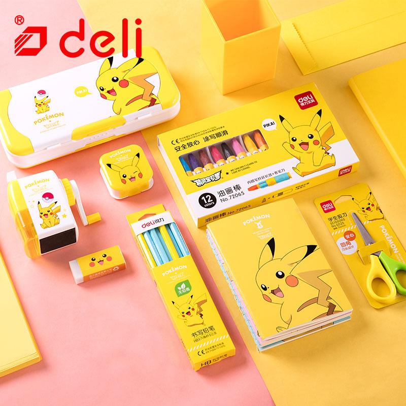 Ensemble de papeterie Deli Pokemon papeterie étudiant crayon/taille-crayon/cahier/crayon de couleur Kits d'apprentissage fournitures scolaires - 2