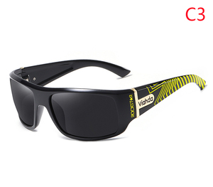 Image 5 - Viahdaデザイン男性古典的な偏光サングラス男性スポーツ釣りシェード眼鏡UV400保護